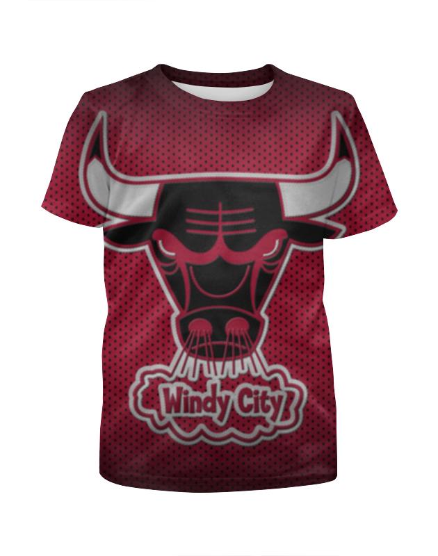 Футболка с полной запечаткой для девочек Printio Чикаго буллз (chicago bulls)