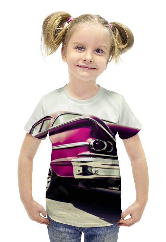 Футболка с полной запечаткой для девочек Printio Машина (шевроле)