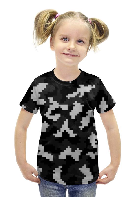 Футболка с полной запечаткой для девочек Printio Пиксели футболка с полной запечаткой для девочек printio пртигр arsb