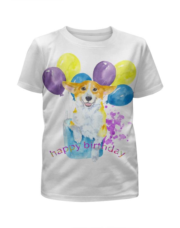 Футболка с полной запечаткой для девочек Printio Солнечная собака. футболка с полной запечаткой для девочек printio spawn