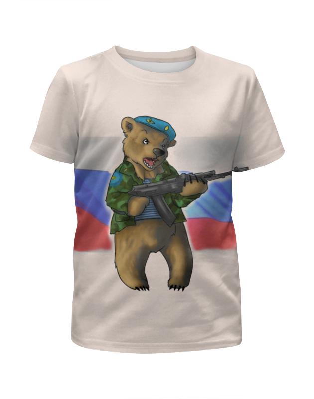 Футболка с полной запечаткой для девочек Printio Russian bear russian phrase book