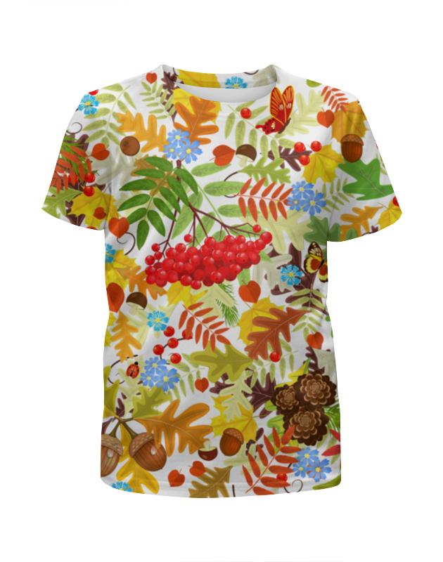 Футболка с полной запечаткой для девочек Printio Осень футболка с полной запечаткой для девочек printio осень пришла