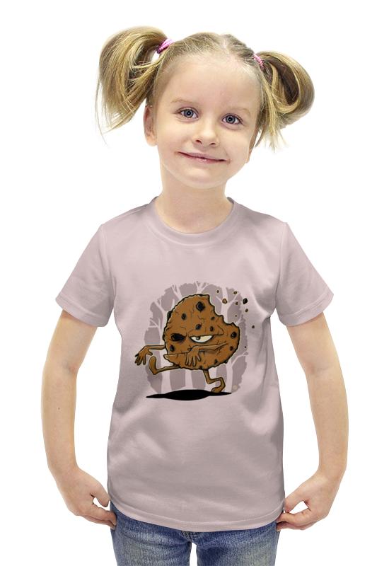 Футболка с полной запечаткой для девочек Printio Печенье-зомби печенье дарлетто