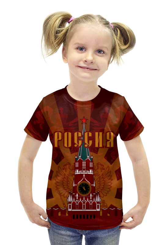 Футболка с полной запечаткой для девочек Printio Кремль