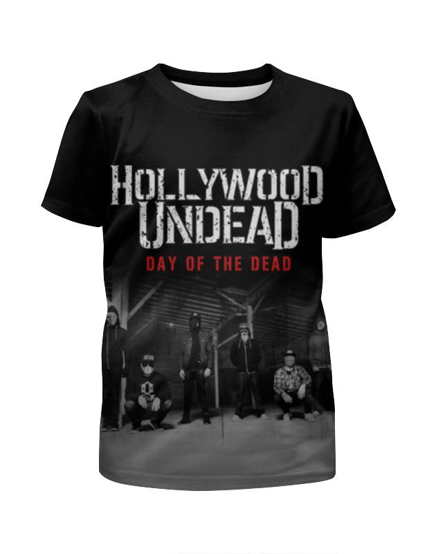 Футболка с полной запечаткой для девочек Printio Hollywood undead - day of the dead ботильоны echo of hollywood