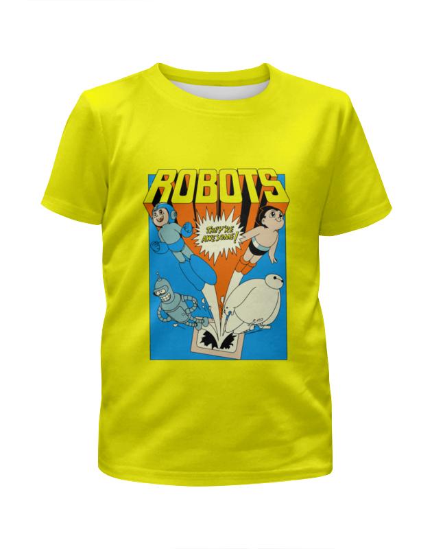 Футболка с полной запечаткой для девочек Printio Мега мэн , бендер и бэймакс футболка с полной запечаткой для девочек printio i want you for nova corps