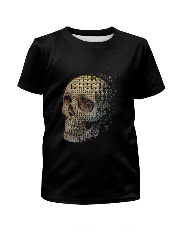 Футболка с полной запечаткой для девочек Printio Большой череп футболка с полной запечаткой для девочек printio пртигр arsb