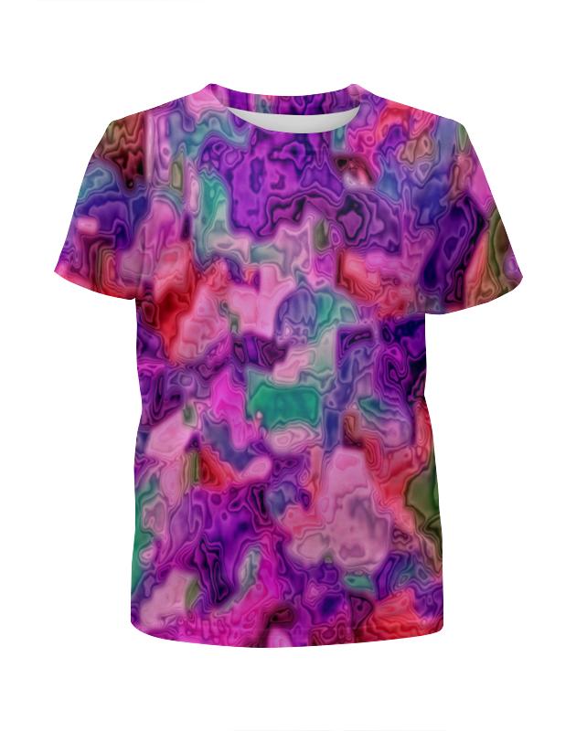 Футболка с полной запечаткой для девочек Printio Неоновые краски футболка с полной запечаткой для девочек printio пртигр arsb