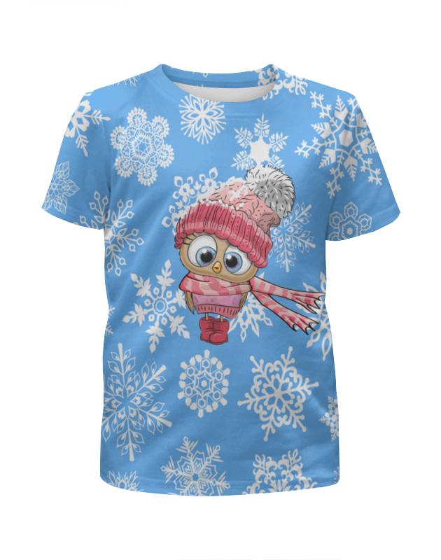 Футболка с полной запечаткой для девочек Printio Сова в шапке футболка с полной запечаткой для девочек printio музыкальная сова