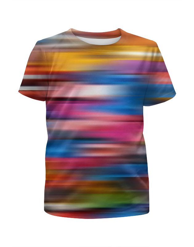 Футболка с полной запечаткой для девочек Printio Краски радуги футболка с полной запечаткой для девочек printio пртигр arsb