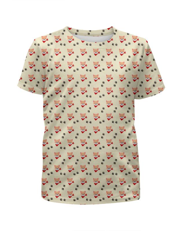 Футболка с полной запечаткой для девочек Printio Лисички футболка с полной запечаткой для девочек printio детство