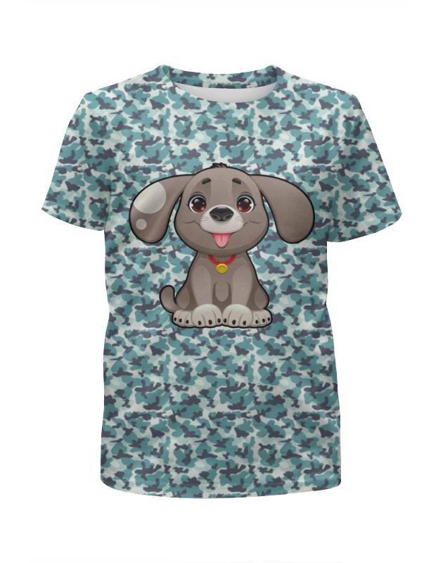 Футболка с полной запечаткой для девочек Printio Милая собачка футболка с полной запечаткой для девочек printio пртигр arsb