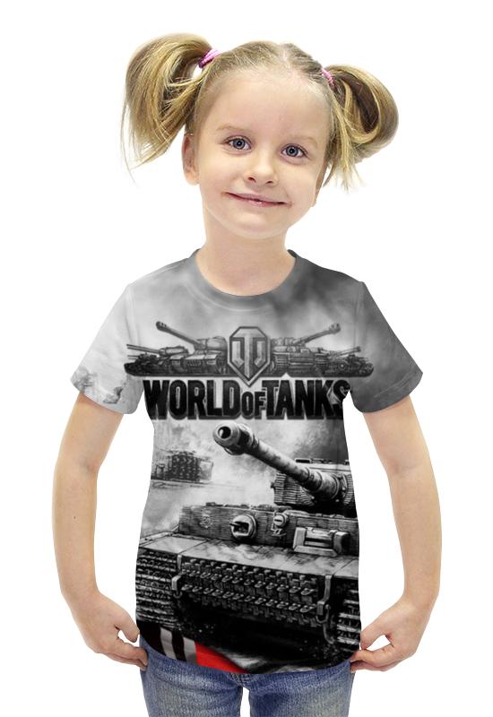 Футболка с полной запечаткой для девочек Printio World of tanks