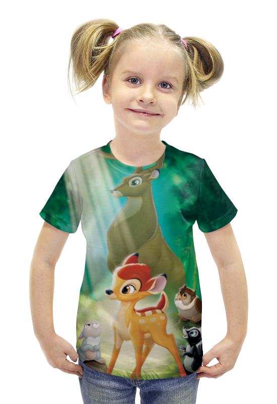 Футболка с полной запечаткой для девочек Printio Бэмби футболка с полной запечаткой для девочек printio spawn