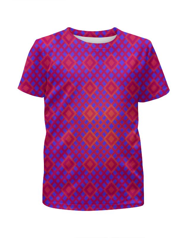 горячая розовая одежда для девочек Футболка с полной запечаткой для девочек Printio Розовая клетка