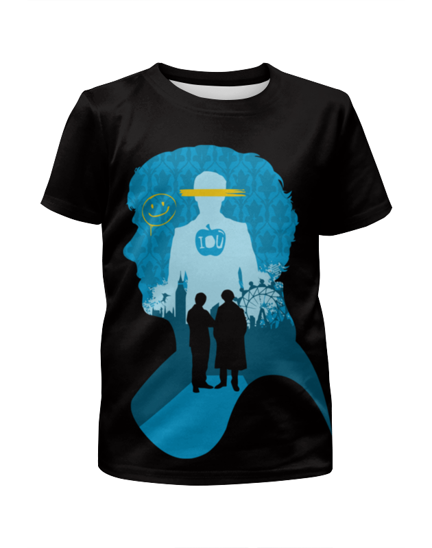 Футболка с полной запечаткой для девочек Printio Шерлок холмс (sherlock holmes) футболка с полной запечаткой для мальчиков printio шерлок холмс sherlock holmes