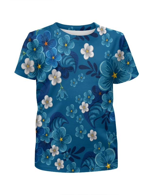 Футболка с полной запечаткой для девочек Printio Цветки футболка с полной запечаткой для девочек printio дефстроук ликвидатор