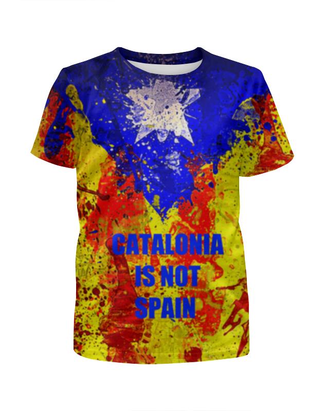 Футболка с полной запечаткой для девочек Printio Свободная каталония бусы из содалита каталония