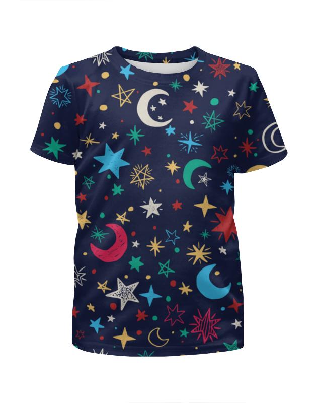 Футболка с полной запечаткой для девочек Printio Звёздное небо бомон эмили гийоре мари рене звёздное небо