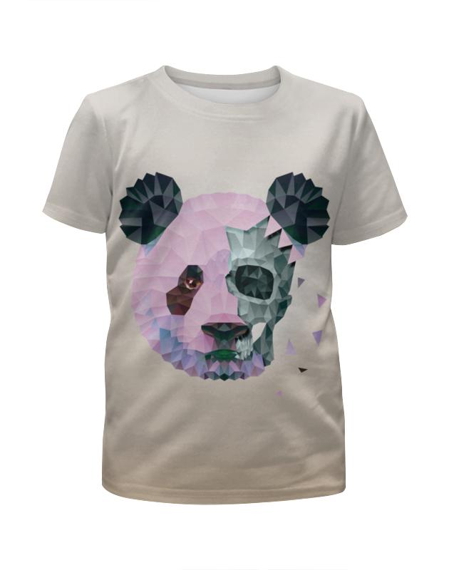 Футболка с полной запечаткой для девочек Printio Polygonal panda футболка с полной запечаткой для девочек printio rushero arsb