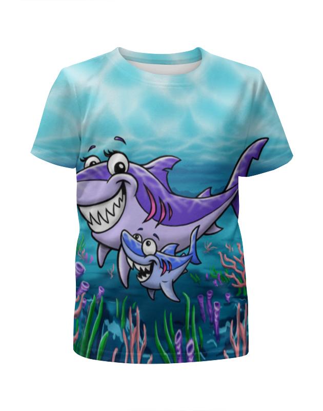 Футболка с полной запечаткой для девочек Printio Акулы акулы из стали последний поход