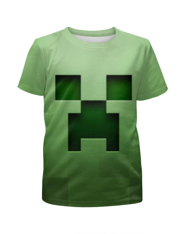 Футболка с полной запечаткой для девочек Printio Minecraft футболка с полной запечаткой для девочек printio дом милый дом