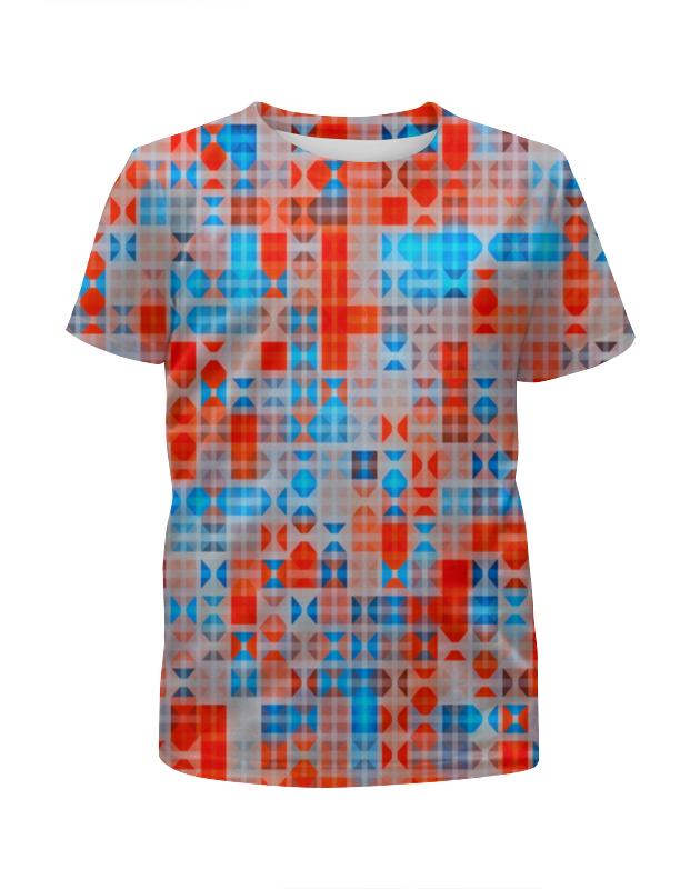 Футболка с полной запечаткой для девочек Printio Цветные фигуры футболка с полной запечаткой для девочек printio rushero arsb