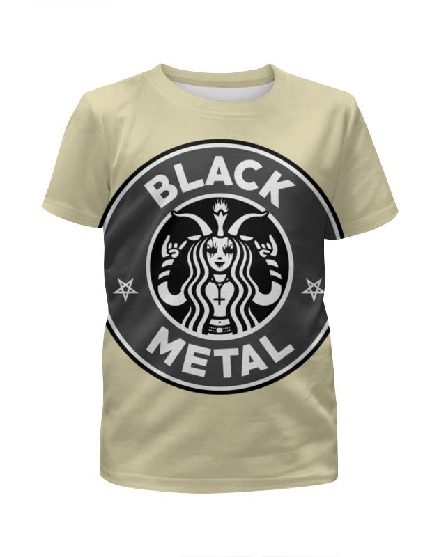 Футболка с полной запечаткой для девочек Printio Starbucks / black metal metal mulisha футболка metal mulisha quartered black