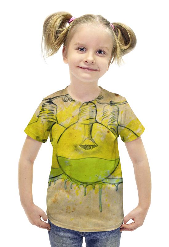 Футболка с полной запечаткой для девочек Printio Лампочка футболка с полной запечаткой для девочек printio пртигр arsb
