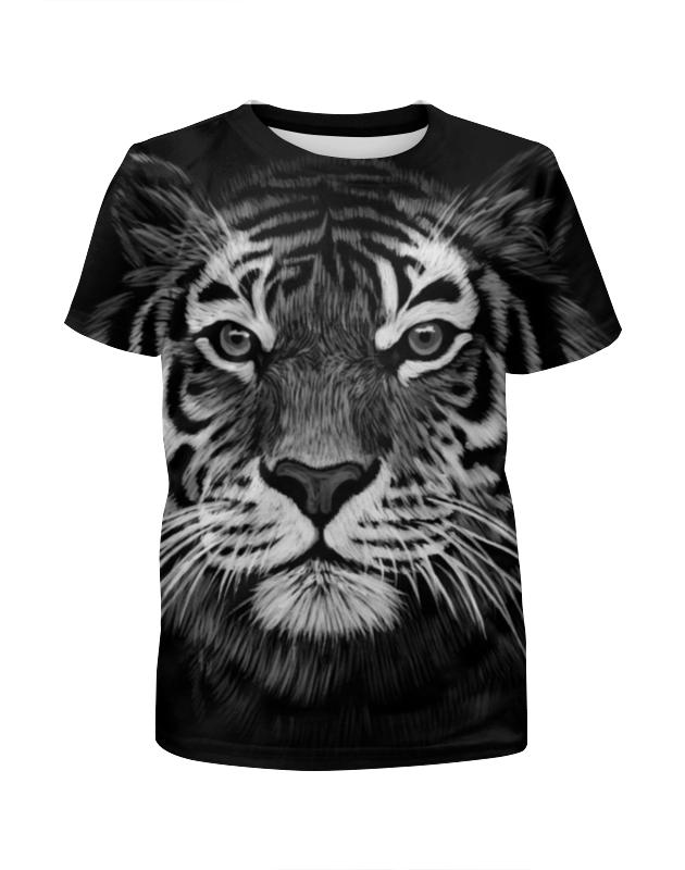 Футболка с полной запечаткой для девочек Printio Белый тигр футболка с полной запечаткой для девочек printio щенок