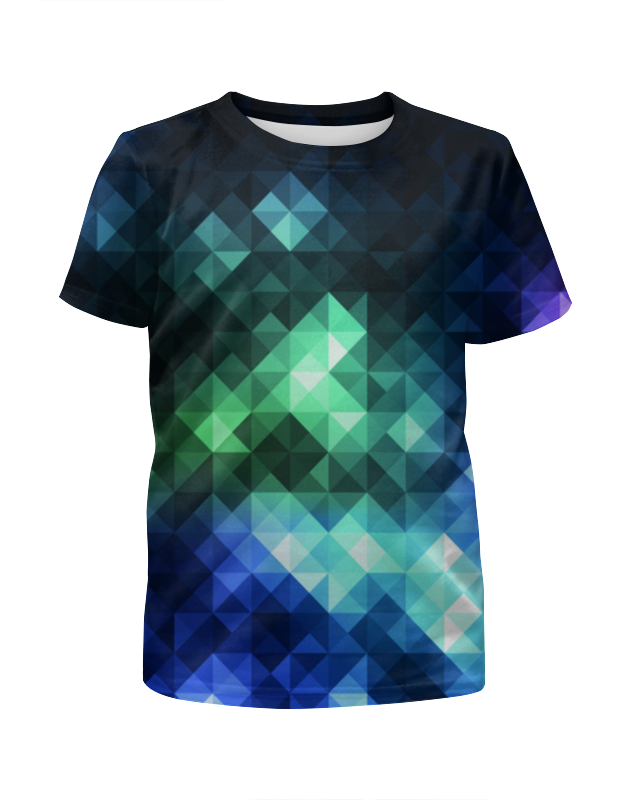 Футболка с полной запечаткой для девочек Printio Треугольники футболка с полной запечаткой для девочек printio дайвинг