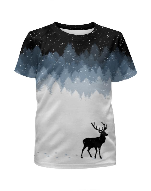 Футболка с полной запечаткой для девочек Printio Зимняя ночь футболка с полной запечаткой для девочек printio пртигр arsb