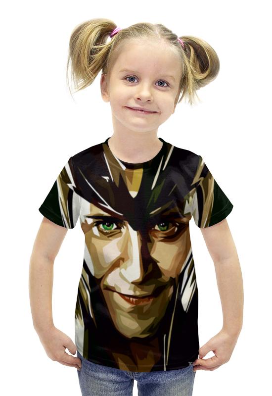 Футболка с полной запечаткой для девочек Printio Локи (loki) футболка с полной запечаткой для девочек printio рианна