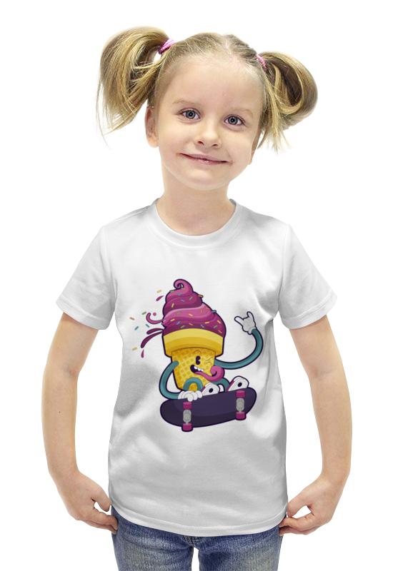 Футболка с полной запечаткой для девочек Printio Мятежное мороженое