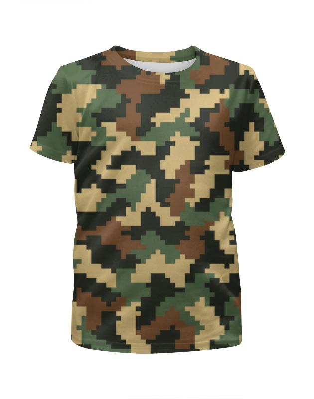 Футболка с полной запечаткой для девочек Printio Camouflage xintown camouflage winter long sleeved