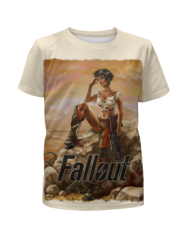 Футболка с полной запечаткой для девочек Printio Fallout game футболка с полной запечаткой для девочек printio slove arsb
