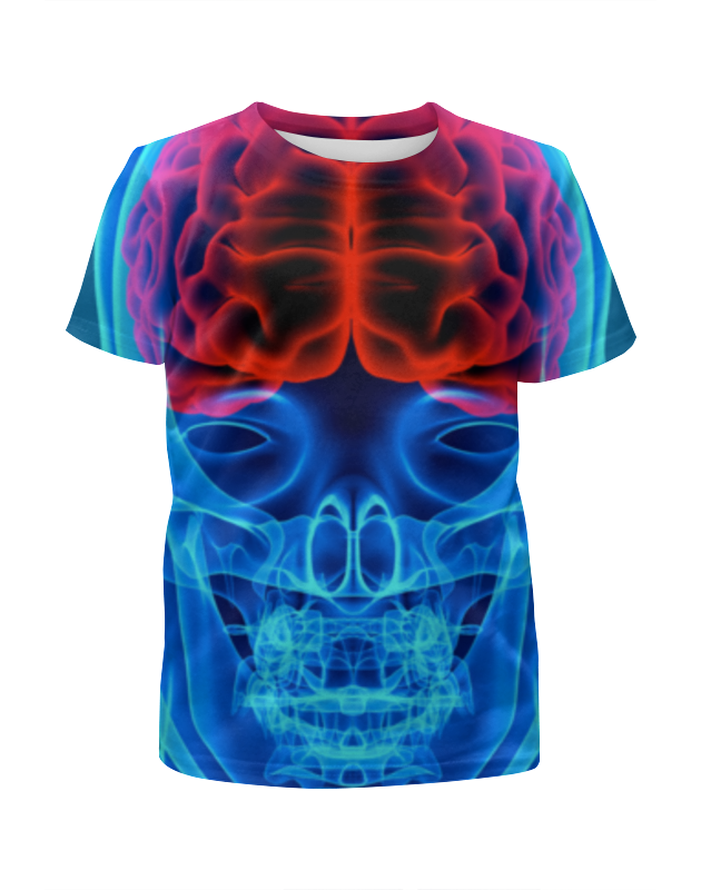 Футболка с полной запечаткой для девочек Printio X-ray man футболка с полной запечаткой мужская printio x ray vet