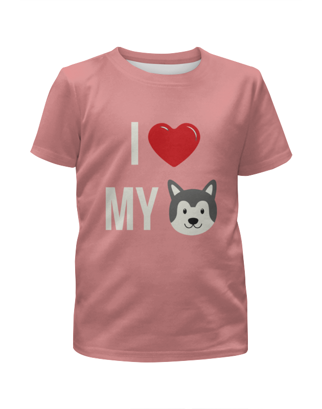 Футболка с полной запечаткой для девочек Printio Я люблю свою собаку футболка с полной запечаткой женская printio я люблю свою собаку