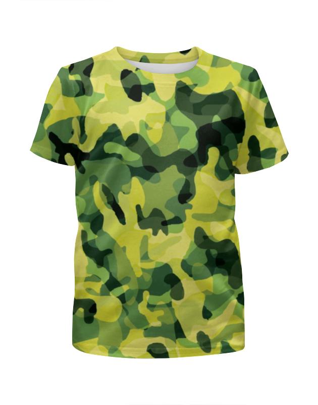 Футболка с полной запечаткой для девочек Printio Современный  камуфляж футболка с полной запечаткой для девочек printio камуфляж