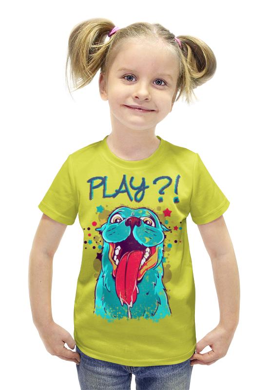 Футболка с полной запечаткой для девочек Printio Play?! футболка с полной запечаткой для девочек printio пртигр arsb