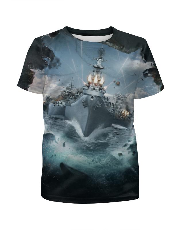 Футболка с полной запечаткой для девочек Printio World of warships warships