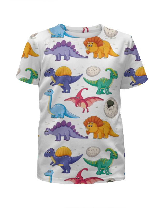 Футболка с полной запечаткой для девочек Printio Динозавры футболка с полной запечаткой для девочек printio детство