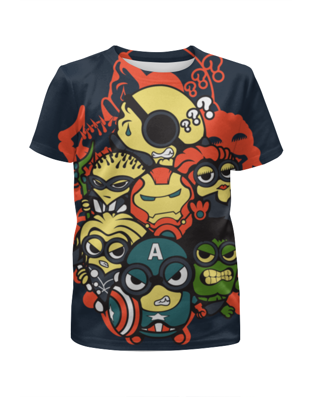 Printio Миньоны супергерои футболка с полной запечаткой для мальчиков printio супергерои