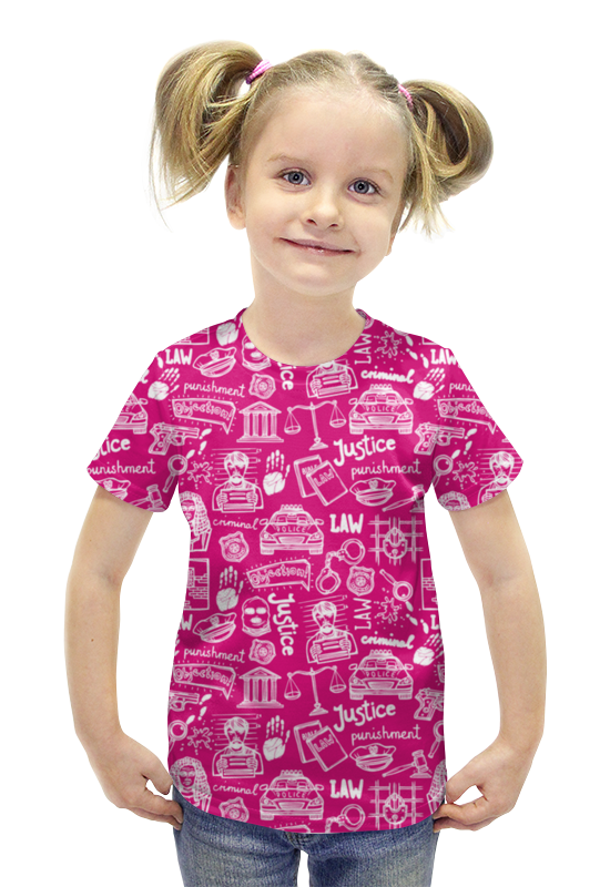 Футболка с полной запечаткой для девочек Printio Криминал футболка с полной запечаткой для девочек printio пртигр arsb