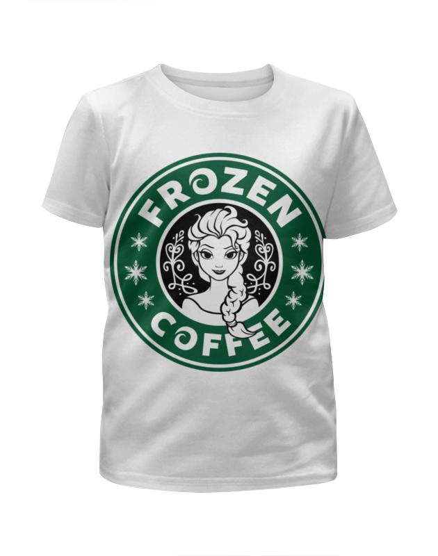 Футболка с полной запечаткой для девочек Printio Снежная королева футболка рингер printio belles book cafe starbucks