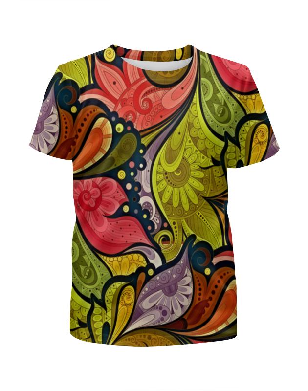Футболка с полной запечаткой для девочек Printio Цветочная роспись футболка с полной запечаткой для девочек printio spawn