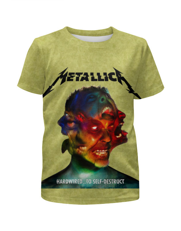 Футболка с полной запечаткой для девочек Printio Metallica band цена 2017