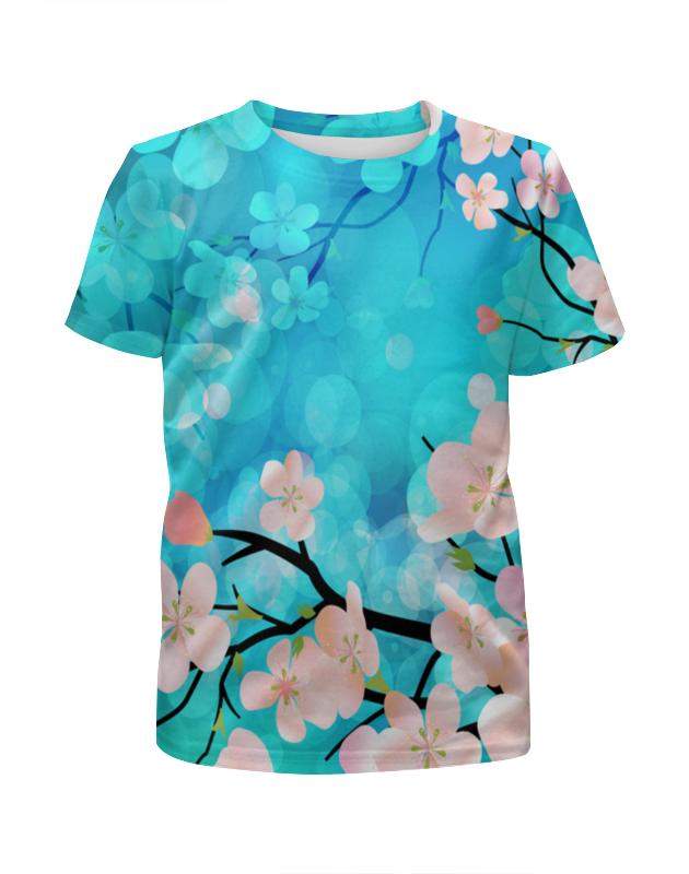 Футболка с полной запечаткой для девочек Printio Цветущее дерево футболка с полной запечаткой printio космоскоп 25