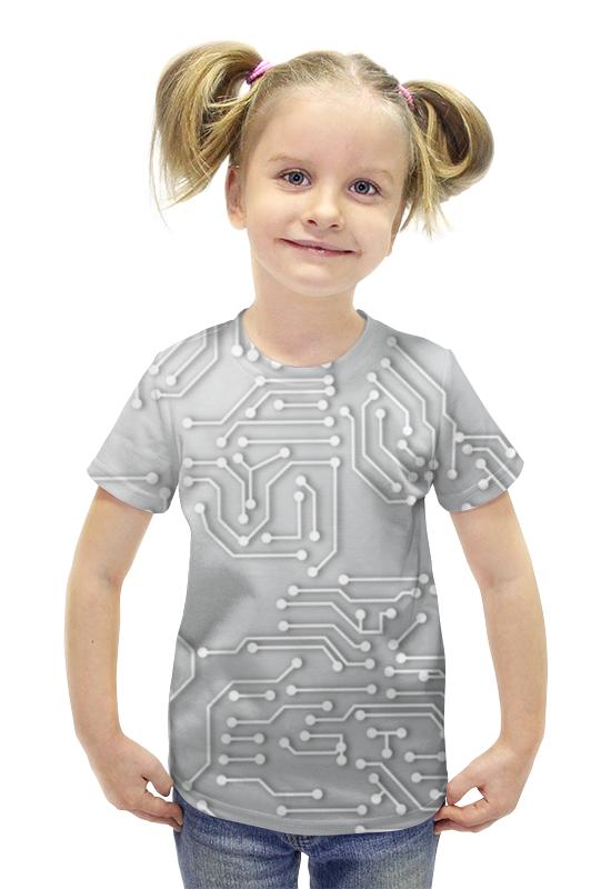 Футболка с полной запечаткой для девочек Printio Микросхема футболка с полной запечаткой для девочек printio spawn