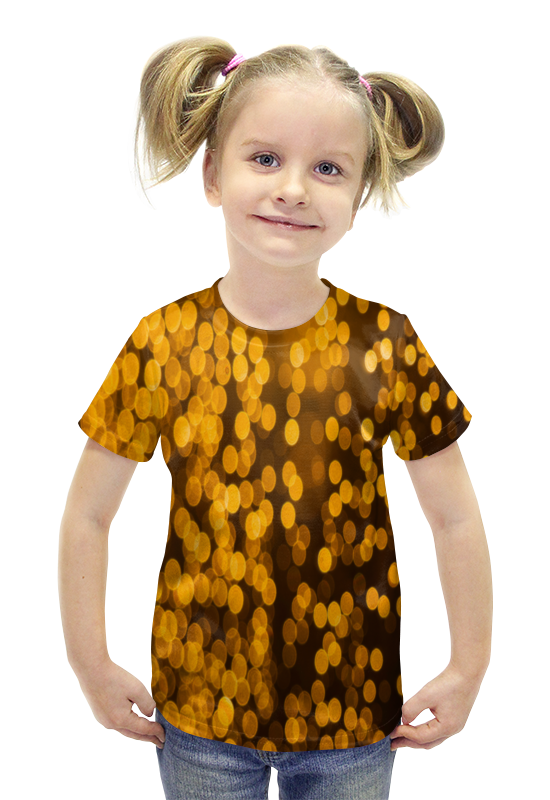 Футболка с полной запечаткой для девочек Printio Золотой футболка с полной запечаткой для девочек printio пртигр arsb